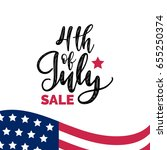 vector fourth of july sale hand ... | Shutterstock .eps vector #655250374