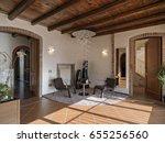 internal view of modern living... | Shutterstock . vector #655256560