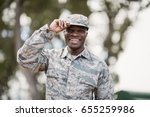 portrait of happy military... | Shutterstock . vector #655259986
