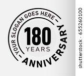 180 years anniversary logo... | Shutterstock .eps vector #655260100