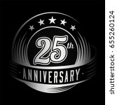 25 years anniversary design... | Shutterstock .eps vector #655260124