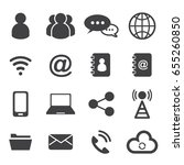 communication icons set. vector ... | Shutterstock .eps vector #655260850