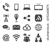 communication icons set. vector ... | Shutterstock .eps vector #655260874