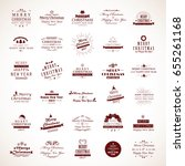christmas icons set isolated on ... | Shutterstock .eps vector #655261168