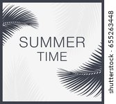 summer time lettering text.... | Shutterstock .eps vector #655263448