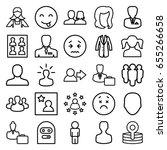 avatar icons set. set of 25...   Shutterstock .eps vector #655266658