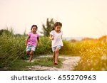 two asian little girls having...   Shutterstock . vector #655270963