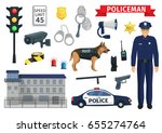policeman occupation of police... | Shutterstock .eps vector #655274764
