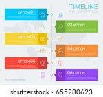 vertical vector timeline info... | Shutterstock .eps vector #655280623