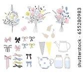 design element to make a floral ... | Shutterstock .eps vector #655280983