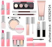 vector makeup icons set 4 | Shutterstock .eps vector #655282924