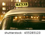 cab at night | Shutterstock . vector #655285123