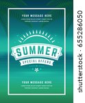 summer sale banner shopping on... | Shutterstock .eps vector #655286050