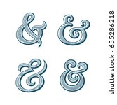 ampersand collection.... | Shutterstock .eps vector #655286218
