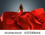 woman with red dress | Shutterstock . vector #655288666