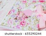 homemade album   folder.... | Shutterstock . vector #655290244