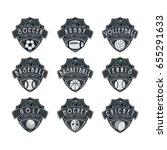 9 sport logo   emblem vector | Shutterstock .eps vector #655291633