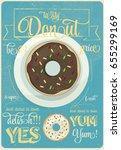 donut poster design | Shutterstock .eps vector #655299169