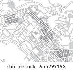 abstract black and white city... | Shutterstock .eps vector #655299193