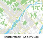 abstract city map. vector... | Shutterstock .eps vector #655299238