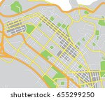 abstract city map. vector... | Shutterstock .eps vector #655299250