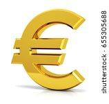 euro sign. 3d euro symbol. | Shutterstock . vector #655305688
