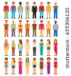 man and woman flat style people ... | Shutterstock .eps vector #655306120