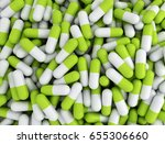 background of many green pills