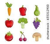 healthy food design | Shutterstock .eps vector #655312900