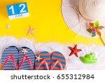 june 12th. image of june 12... | Shutterstock . vector #655312984