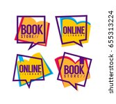 book store and online library ... | Shutterstock .eps vector #655313224