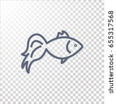 fish icon flat.   Shutterstock .eps vector #655317568