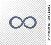 infinity icon vector. | Shutterstock .eps vector #655318069