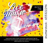 live music poster with a... | Shutterstock .eps vector #655322296