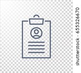 clipboard icon vector.  | Shutterstock .eps vector #655326670