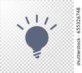 lightbulb flat icon .