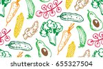 hand drawn doodle pattern with...   Shutterstock .eps vector #655327504