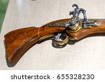 Small photo of Ancient pistols and arquebus in a private collection