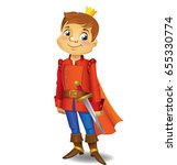 illustration of handsome prince ... | Shutterstock .eps vector #655330774