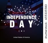 happy american independence day ... | Shutterstock .eps vector #655335583