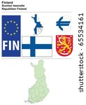 finland collection including... | Shutterstock .eps vector #65534161