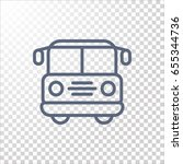 bus icon flat. | Shutterstock .eps vector #655344736