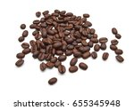 coffee beans in roasted drinks | Shutterstock . vector #655345948