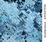 complex pixel pattern... | Shutterstock .eps vector #655347550