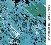 complex pixel pattern... | Shutterstock .eps vector #655347598