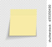 sticky paper note on... | Shutterstock .eps vector #655350430