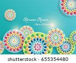 ramadan kareem greeting card...   Shutterstock .eps vector #655354480