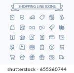 shopping and e commerce vector... | Shutterstock .eps vector #655360744
