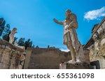 ruins of herculaneum  ancient... | Shutterstock . vector #655361098