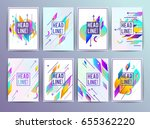 set of geometric abstract...   Shutterstock .eps vector #655362220